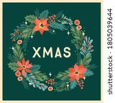 christmas and happy new year... | Shutterstock .eps vector #1805039644