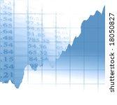 graph showing success on a soft ... | Shutterstock . vector #18050827