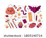 Halloween Sweet Set Isolated....
