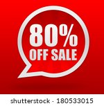 eighty percent off sale | Shutterstock . vector #180533015