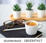 Coffee Break Concept  Close Up...