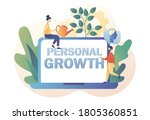 personal growth big text on... | Shutterstock .eps vector #1805360851