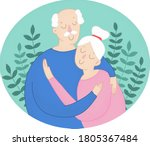 vector illustration of a senior ... | Shutterstock .eps vector #1805367484