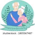 poster inscription grandparents ... | Shutterstock .eps vector #1805367487