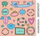 vintage label set. color set of ... | Shutterstock .eps vector #1805369107