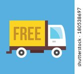 vector free shipping truck icon