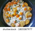 Fried Quail Eggs With Many...