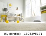Cute Baby Room Interior With...