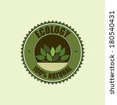 ecology design over white... | Shutterstock .eps vector #180540431