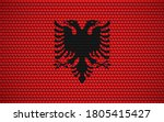 abstract flag of albania made... | Shutterstock .eps vector #1805415427