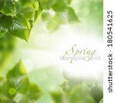 spring leaves | Shutterstock . vector #180541625