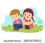vector illustration cartoon of... | Shutterstock .eps vector #1805419831