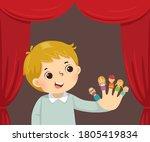 vector illustration cartoon of... | Shutterstock .eps vector #1805419834