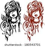 girls isolated illustration eps ... | Shutterstock .eps vector #180543701
