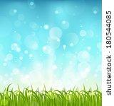 illustration summer nature... | Shutterstock .eps vector #180544085