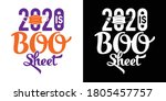 boo sheet printable vector... | Shutterstock .eps vector #1805457757