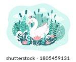 Cute Princess Swan And River...