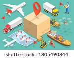 3d isometric flat vector... | Shutterstock .eps vector #1805490844