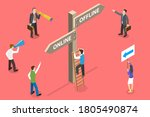 3d isometric flat vector... | Shutterstock .eps vector #1805490874