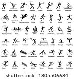 sports icons. vector isolated... | Shutterstock .eps vector #1805506684