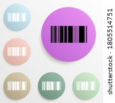 barcode badge color set. simple ...