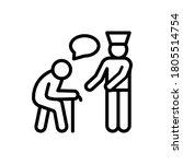 old man nurse help icon. simple ...