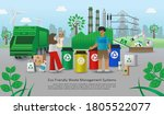 cities with good waste...   Shutterstock .eps vector #1805522077