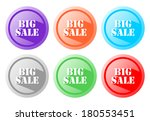 big sale etiquette | Shutterstock . vector #180553451