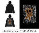 character streetwear hoodie... | Shutterstock .eps vector #1805554504