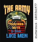 usa army lover t shirt design. | Shutterstock . vector #1805561977