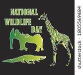 National Wildlife Day Vector...