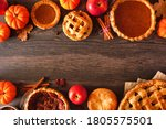 Variety Of Homemade Autumn Pie...