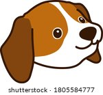 outlined brown beagle puppy... | Shutterstock .eps vector #1805584777