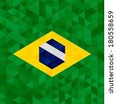 Ondeando bandera tela de Brasil, vector de ilustración de fondo