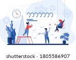planning concept.... | Shutterstock .eps vector #1805586907