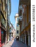Small photo of LUGANO, SWITZERLAND - MAR 8, 2014: Street Via Nassa in Lugano, Switzerland. Via Nassa is the shopping center in Lugano