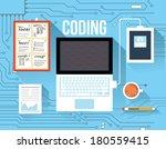 coding concept | Shutterstock .eps vector #180559415