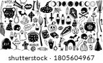 happy halloween. big set of... | Shutterstock .eps vector #1805604967