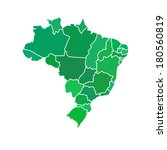 flat simple brazil map  vector...