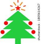 christmas fir tree vector... | Shutterstock .eps vector #1805614267