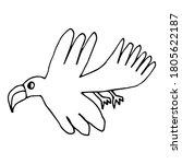 cartoon blue flying bird... | Shutterstock .eps vector #1805622187