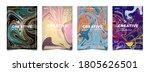 set of elegant cover design... | Shutterstock .eps vector #1805626501
