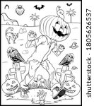 coloring book page for... | Shutterstock .eps vector #1805626537