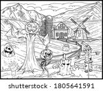 coloring book page for... | Shutterstock .eps vector #1805641591