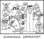 coloring book page for... | Shutterstock .eps vector #1805641597