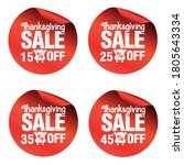 thanksgiving sale stickers set... | Shutterstock .eps vector #1805643334
