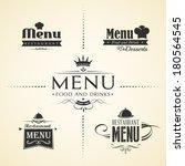 restaurant menu design sets   Shutterstock .eps vector #180564545