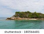 Rocky coast, Labadee, Haiti - stock photo