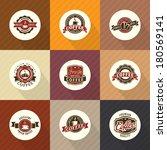 set of vintage retro coffee... | Shutterstock .eps vector #180569141