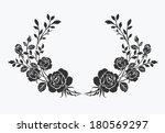 rose border vector ornamental...   Shutterstock .eps vector #180569297